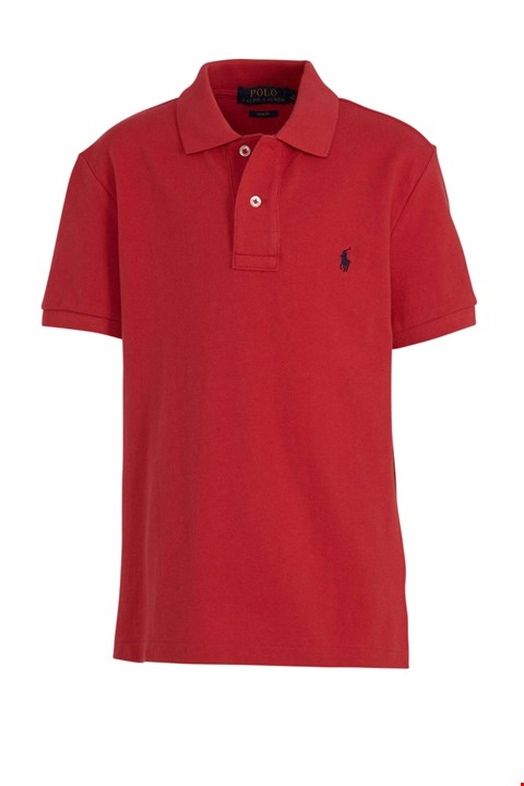 Lot 3118 BRAND NEW RALPH LAUREN POLO WITH LOGO EMBROIDERY RED POLO TOP SIZE S