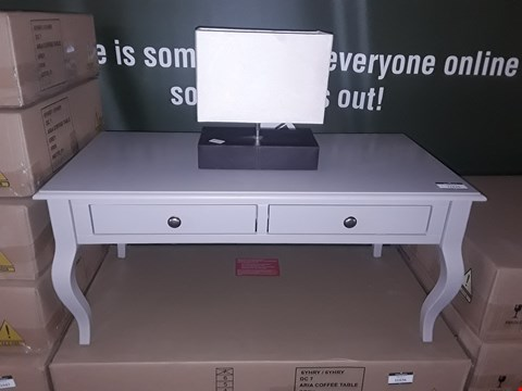 Lot 38 ARIA GREY COFFEE TABLE  RRP £189