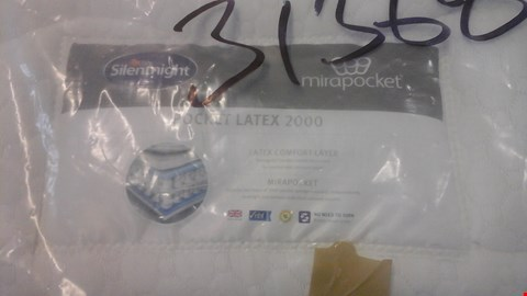 Lot 1293 QUALITY BAGGED SILENTNIGHT MIRAPOCKET POCKET LATEX 2000 4'6'' MATTRESS