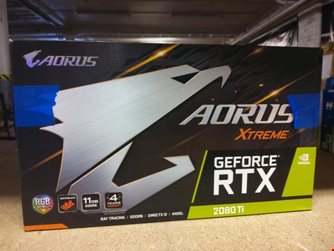 Lot 595 GIGABYTE AORUS XTREME GEFORCE RTX 2080TI