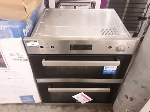 Lot 432 BEKO DOUBLE CAVITY BUILT IN ELECTRIC OVEN