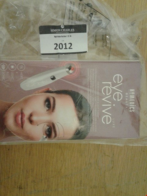 Lot 2012 HOMEDICS BEAUTY EYE REVIVE LUXE  RRP £50