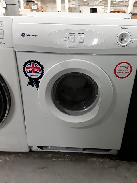 Lot 35 WHITE KNIGHT C42AW 6KG FREESTANDING VENTED TUMBLE DRYER - WHITE  RRP £158