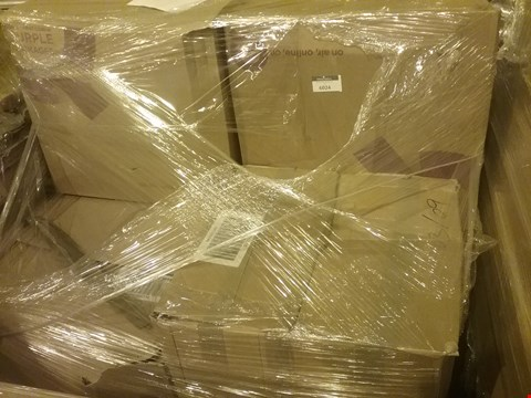 Lot 90 PALLET OF APPROXIMATELY 248 ASSORTED CLOTHING AND HARDWARE ITEMS, INCLUDING SHOES, BOMBER JACKETS, 5 FIONA SUMMERS FLEX AND TONE ADJUSTABLE DUMBBELLS AND 6 SUN JOE COMPACT BLOWERS