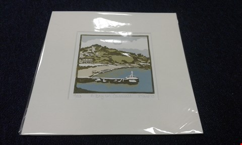 Lot 8239 FIONA CARVER 'A BAY IN CORNWALL' PRINT NUMBERED 18/50