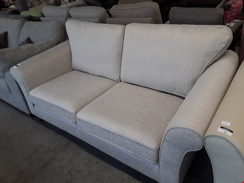 Lot 27 QUALITY BRITISH DESIGNER NATURAL FABRIC SOMERSET 3 SEATER SOFA
