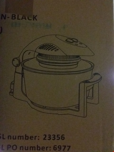 Lot 13801 BOXED COOKSHOP BLACK 17L HALOGEN OVEN