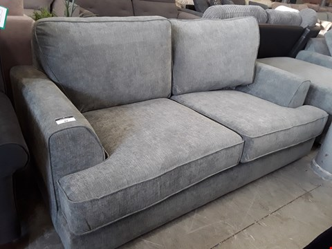 Lot 67 DESIGNER GREY FABRIC TWO SEATER SOFA