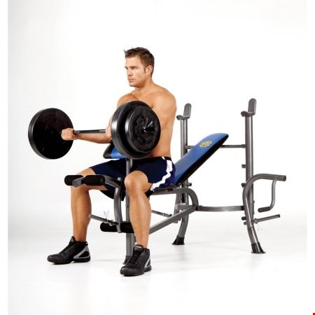 Lot 197 MARCY PRO STANDARD BENCH AND WEIGHT SET RRP £379.99