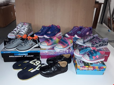 Lot 12798 LOT OF APPROXIMATELY 10 ASSORTED PAIRS OF SHOES TO INCLUDE POLO, SKETCHERS, FRODDO