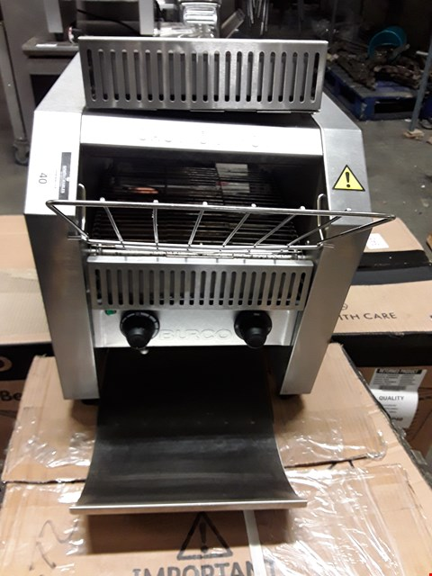 Lot 37 BURCO TSCNV01 CONVEYOR BELT TOASTER.