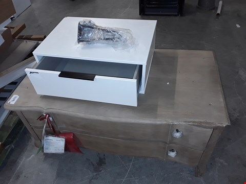 Lot 187 LOT OF 2 FURNITURE ITEMS INCLUDES 2-DRAWER WARDROBE BASE AND WALL MOUNTED DRAWER