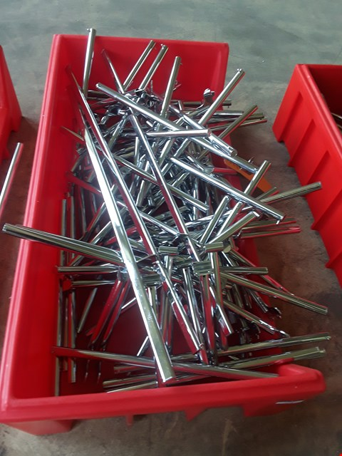 Lot 2036 BOX OF METAL RAILING FITTINGS