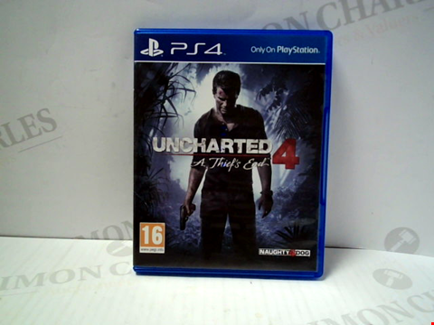 Lot 5717 UNCHARTED 4: A THIEFS END PLAYSTATION 4 GAME