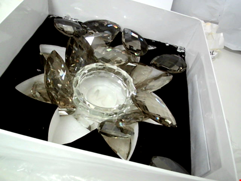 Lot 176 JULIAN MCDONALD LOTUS CANDLE HOLDER - SMOKED GLASS