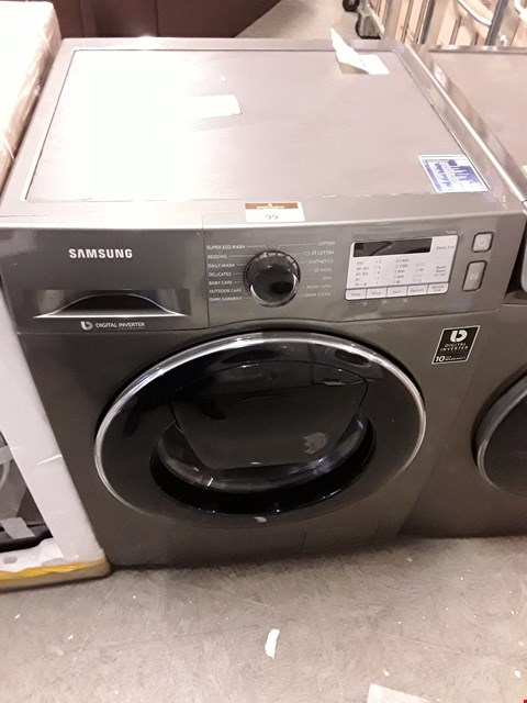 Lot 99 SAMSUNG SILVER ECOBUBBLE 7KG DIGITAL INVERTER WASHING MACHINE WW70K5413UXEU RRP £799.00