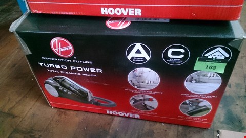 Lot 185 BOXED HOOVER TURBO POWER VACUUM CLEANER