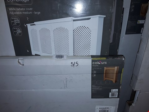 Lot 631 LOT OF 5 ASSORTED RADIATOR COVERS TO INCLUDE,  CAMBRIDGE WHITE WHITE RADIATOR COVER ADJUSTABLE MEDIUM - LARGE ETC
