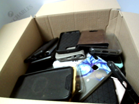 Lot 6202 BOX OF ASSORTED PHONE AND TABLET CASES ETC