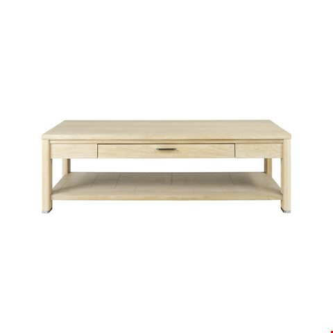 Lot 3038 CONTEMPORARY DESIGNER BOXED JENSON BLONDE OAK SQUARE COFFEE TABLE  RRP £495.00