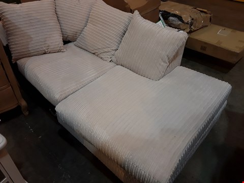 Lot 209 NATURAL CHORD CHAISE SECTION WITH SCATTER CUSHIONS