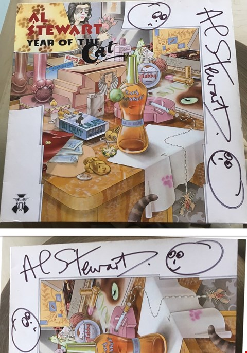 Lot 30 SIGNED 'YEAR OF THE CAT' ALBUM DONATED BY MUSICIAN AL STEWART