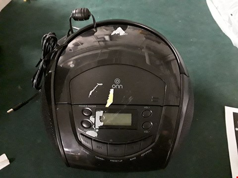 Lot 1172 ONN CD AM/FM RADIO BOOMBOX IN BLACK  RRP £12
