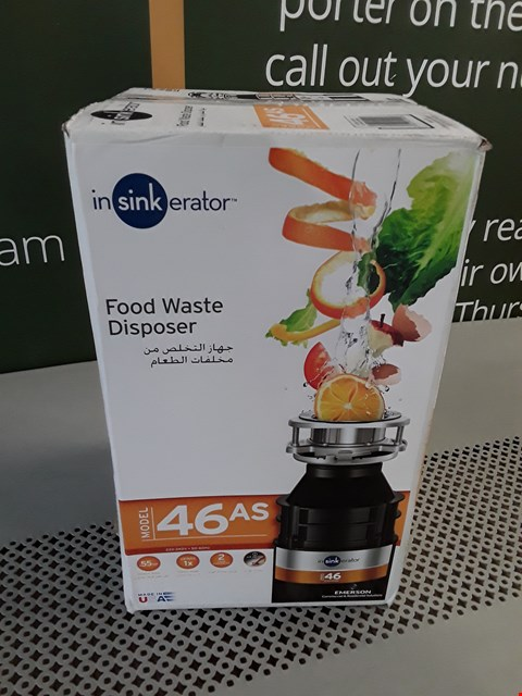 Lot 33 BOXED INSINKERATOR 46AS FOOD WASTE DISPOSER RRP £102.00