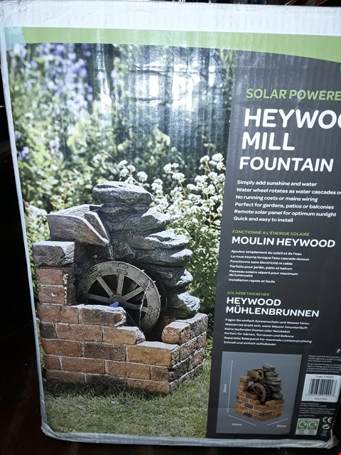 Lot 3429 BOXED GRADE 1 HEYWOOD MILL FOUNTAIN RRP £129.99