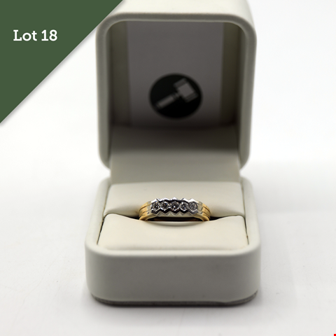 Lot 18 18CT GOLD FIVE STONE DIAMOND SET HALF ETERNITY RING RRP £2100.00