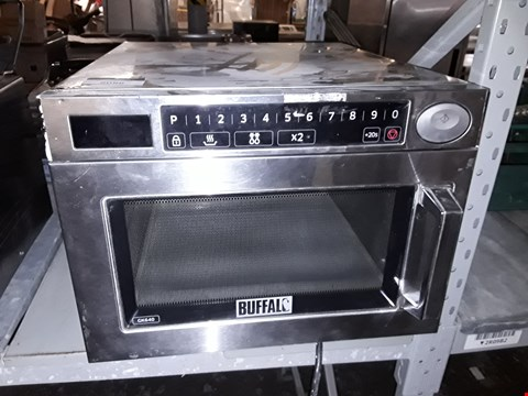 Lot 9086 BUFFALO GK640 STAINLESS STEEL COMMERCIAL MICROWAVE