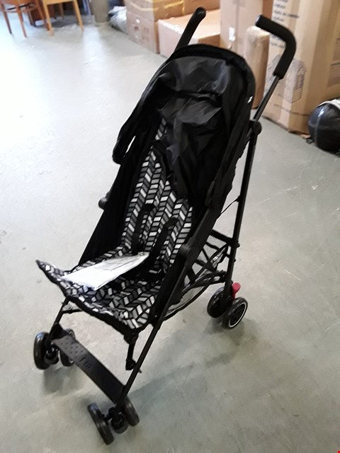 Lot 1222 BRAND NEW BOXED MOTHERCARE BLACK CHEVRON NANU STROLLER (1 BOX) RRP £74.99