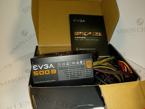 Lot 17501 EVGA 500 B 500WATT BRONZE POWER SUPPLY