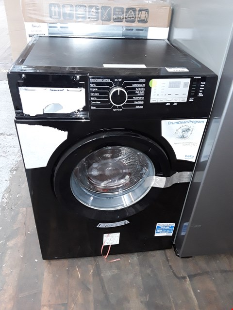 Lot 11010 BEKO WTG841M2B 8KG LOAD, 1400 SPIN WASHING MACHINE - BLACK