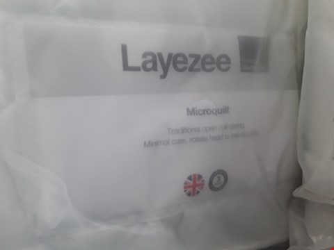Lot 27 QUALITY BAGGED LAYEZEE MICROQUILT 135CM DOUBLE MATTRESS