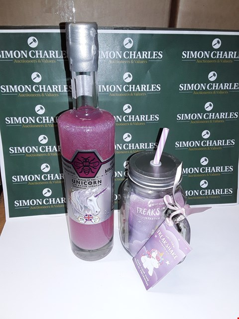 Lot 51 LOT OF 2 BRAND NEW UNICORN THEMED ITEMS INCLUDES GIN BASED LIQUER AND FREAKSHAKE KIT