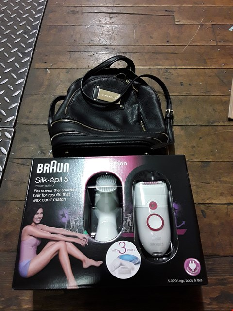 Lot 3275 BRAND NEW BRAUN SILK-EPIL 5 EPILATOR AND BRAND NEW RIVER ISLAND BLACK MINI BACKPACK RRP £176.00