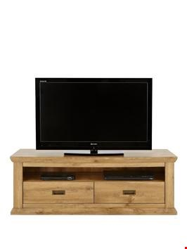 Lot 2004 BOXED GRADE 1 CLIFTON OAK-EFFECT WIDE TV UNIT (1 BOX) RRP £229.99