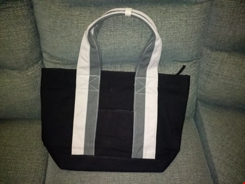 Lot 9139 BOX OF APPROXIMATELY 25 JAZZI LONDON CANVAS TOTE BAGS IN BLACK