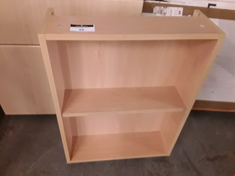 Lot 69 LIGHT OAK LOOK BASE OPEN SHELF UNIT - 50X18X69CM