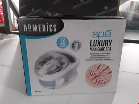 Lot 17206 BOXED HOMEDICS LUXURY MANICURE SPA