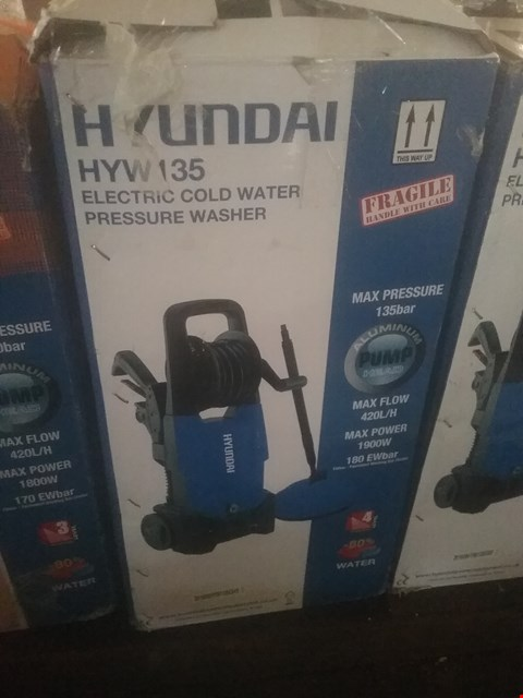 Lot 81 HYUNDAI HYW135 ELECTRIC COLD WATER PRESSURE WASHER