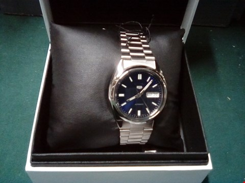 Lot 1020 BOXED SEIKO STAINLESS STEEL WATCH