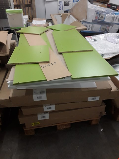 Lot 173 PALLET OF ASSORTED FLAT PACK KITCHEN UNITS