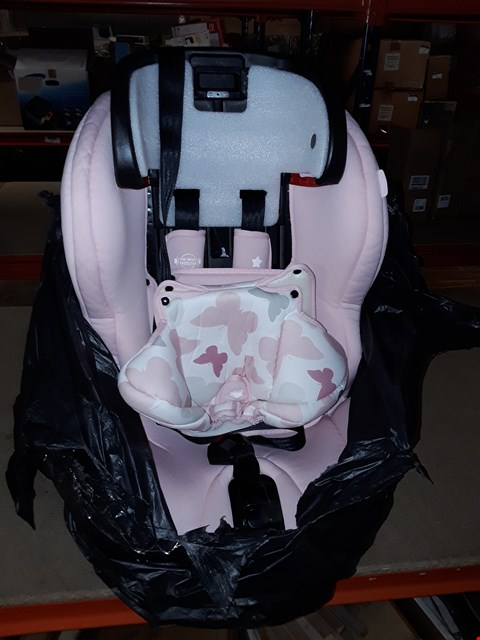 Lot 4362 MY BABIIE MY BABIIE GROUP 123 CAR SEAT- PINK BUTTERFLIES RRP £99.99
