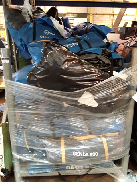 Lot 37 PALLET OF ASSORTED HIGEAR TENTS & PORCHES