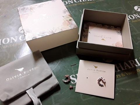 Lot 2041 BOXED OLIVIA BURTON 18KT ROSE GOLD PLATED EARRINGS RRP £65.00