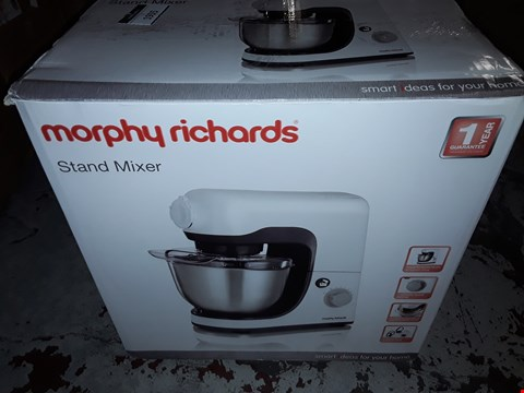 Lot 1935 MORPHY RICHARDS STAND MIXER 400023 800W WHITE GREY