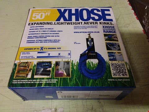 Lot 1211 LOT OF 8 X BOXED XHOSE 50FT EXPANDING GARDEN HOSES