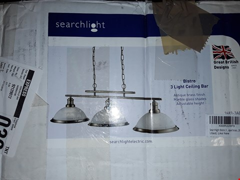 Lot 21 BISGRO 3 LIGHT CEILING BAR